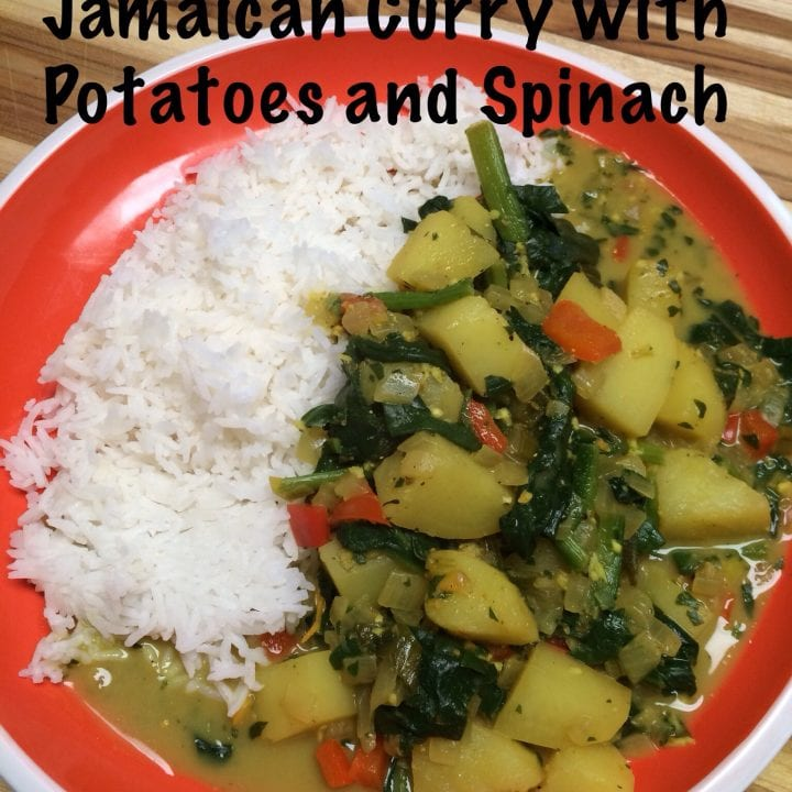 Jamaican Curry with Potatoes and Spinach