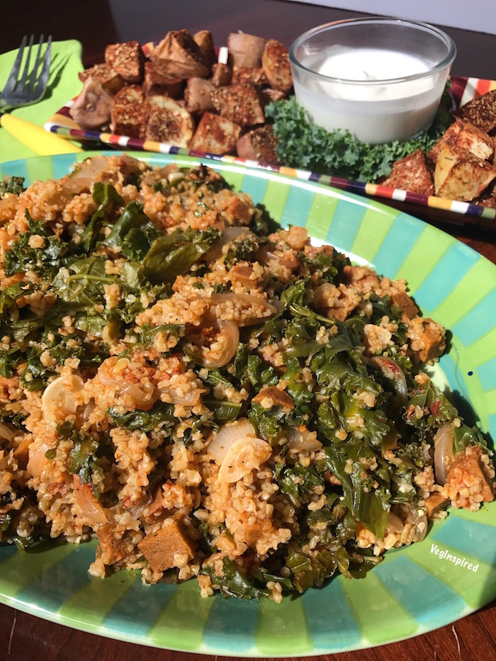 Cajun Freekeh with Kale