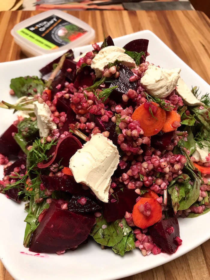 Beet, Buckwheat, and Arugula Salad