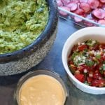 gaucamole, pickled radishes, pico de gallo, chipotle creme - 4 vegan taco topping recipes